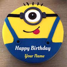minion birthday cakes minion birthday cake with your name
