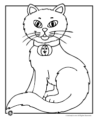 astounding design halloween coloring pages cats scared cat