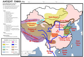Chinese Map Ancient China Geography Lessons Tes Teach
