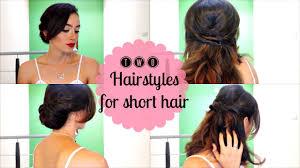 easy hairstyles for short hair dos peinados fáciles para cabello