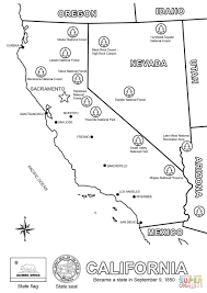 map of california coloring page free printable coloring pages