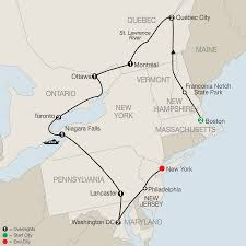 Map From New York To Boston by New York Washington Dc U0026 New England Tours Globus