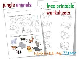 printable jungle animals worksheets activities for jungle animals