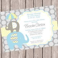 elephant baby shower invitation printable baby chevron