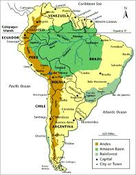 south america map rainforest route maps expeditions overland explorers