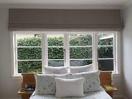 main bedroom linen roman blind windows doors external