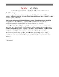 best birthday host cover letter exles livecareer