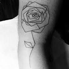 tattoo geometric outline 40 geometric rose tattoo designs for men flower ink ideas