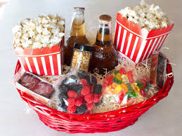 christmas gift baskets movie night basket hgtv and christmas gifts