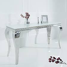 Esszimmer M El Ebay Konsolentisch Modern Barock 140cm Weiß Opalglas Beistelltisch