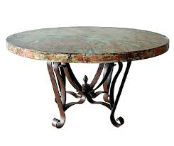 hammered copper dining table fabulous copper top dining table round old world rustic copper