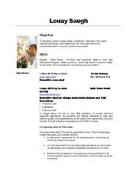 Sample Sous Chef Resume by Thai Chef Cover Letter