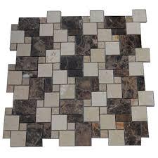 splashback tiles splashback tile parisian crema marfil and dark emperador blend 12