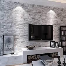 livingroom wallpaper retro imitation stone brick wallpaper personality living room