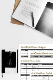 sample social media planner sheets how to organize daily