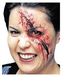 spirit halloween liquid latex slashed eye wound slashed eye latex wound for halloween