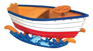 runabout child u0027s wood boat rocker