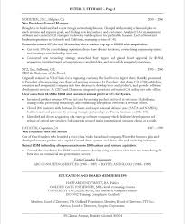 ceo coo resume samples u0026 examples
