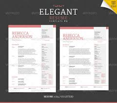 Resume Elegant Resume Templates by 42 Impeccable Resume Templates Word Psd Indd Ai Download