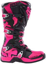 buy motocross boots fox comp 5 mx lady boots motocross black pink fox mtb helmet