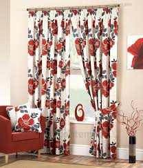 daria red black modern lined curtains curtains and curtains