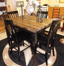 rustic pub table and chairs farm house pub table with four chairs repurposed table set rustic