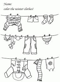 winter clothes coloring pages for preschoolers quot the jacket i
