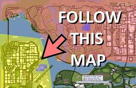 San Andreas Map How To Fly Across The Map And Not Get A Wanted Level Very