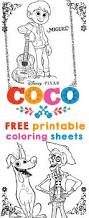 coco coloring sheets and activity sheets from disney pixar