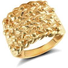 mens gold ring mens 9ct yellow gold 5 row keeper ring 30 grams newburysonline
