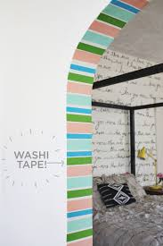 diy stripe doorway u2026 with washi tape u2013 a beautiful mess