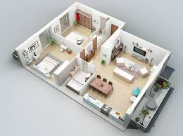 Two Bedroom Design Small Two Bedroom Apartment Floor Plans
