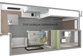 simple house plans to build studio apartment floor 3d idolza