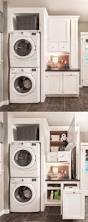 Laundry Room Storage Between Washer And Dryer by 6 U0027 Utility Room Package In Glacier White With Stacked Washer And