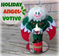 diy holiday angel votive from recycled paper towel tubes