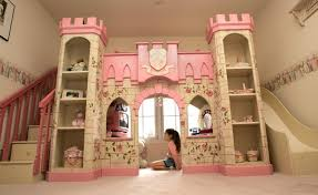 Princess Bunk Bed With Slide Appealing Princess Castle Through Bunk Beds With Stairs And