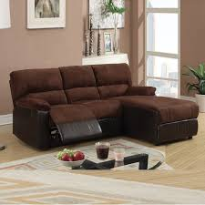 Sectional Loveseat Sofa Mini Sectional W Reversible Chaise Pc Small Chocolate Microfiber