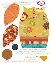 free printable owl pattern template