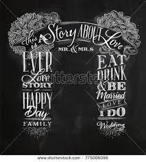 wedding backdrop chalkboard wedding engagement backdrop retro style drawing stock vector