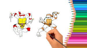 teenage mutant ninja turtles coloring book tmnt coloring pages