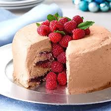 Chocolate Raspberry Recipes Chocolate Raspberry Angel Food Torte Recipe Taste Of Home