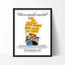 home decor wall posters disneyland poster vintage it u0027s a small world fantasyland