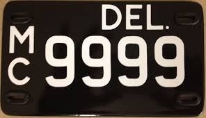 Dmv Vanity Plate The Delaware Historic Plate Company Home Of The Delaware Black Tag