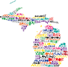 Map Of The United States With Cities Michigan There U0027s No Place Like Home Pinterest Digital
