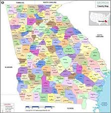 ga zip code map amazon com zip code map state of laminated home kitchen