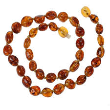 baby bead necklace images Flower pattern baroque baltic amber teething necklaces for awwake me jpg