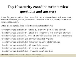 Resume For Security Jobs by Top10securitycoordinatorinterviewquestionsandanswers 150324074103 Conversion Gate01 Thumbnail 4 Jpg Cb U003d1427200909