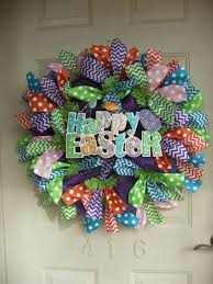 146 best easter mesh wreaths images on wreaths