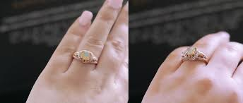 opal and engagement ring sapphire studios amora 1 65ct opal gold skull engagement