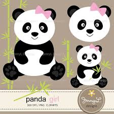 50 off panda digital papers and clipart panda bear